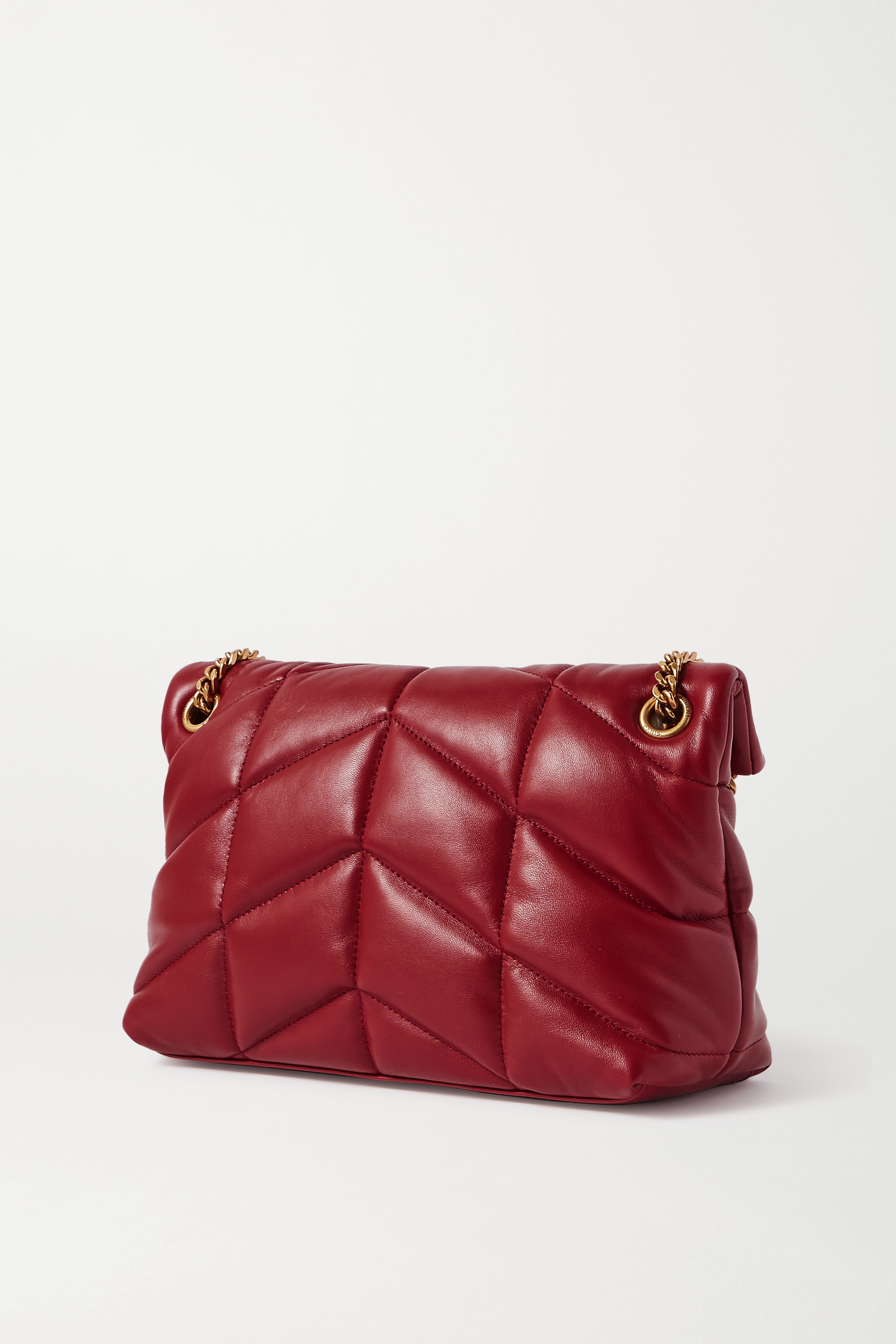 SAINT LAURENT Loulou Puffer small quilted leather shoulder bag