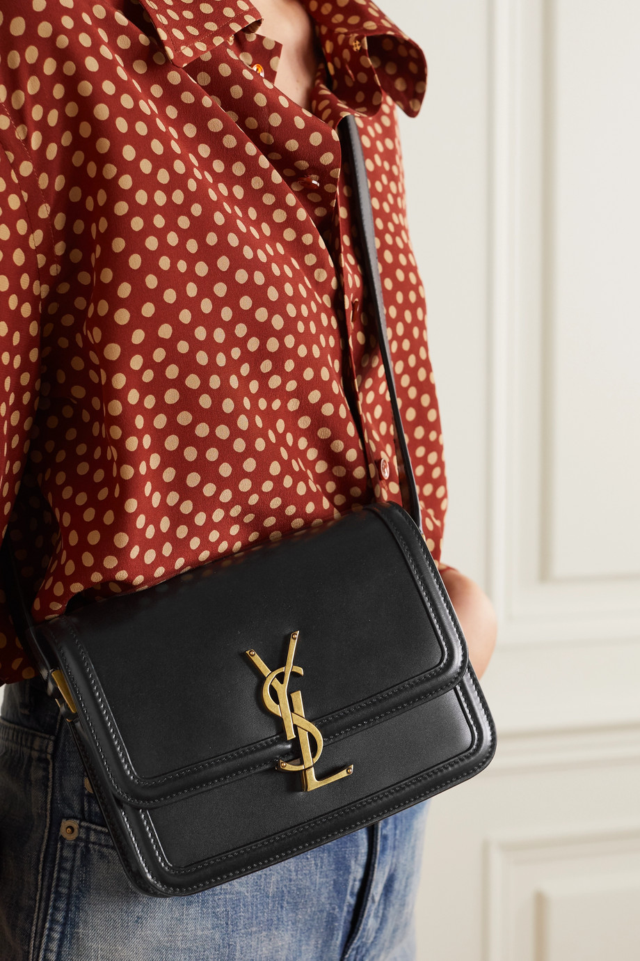 SAINT LAURENT Solferino small leather shoulder bag