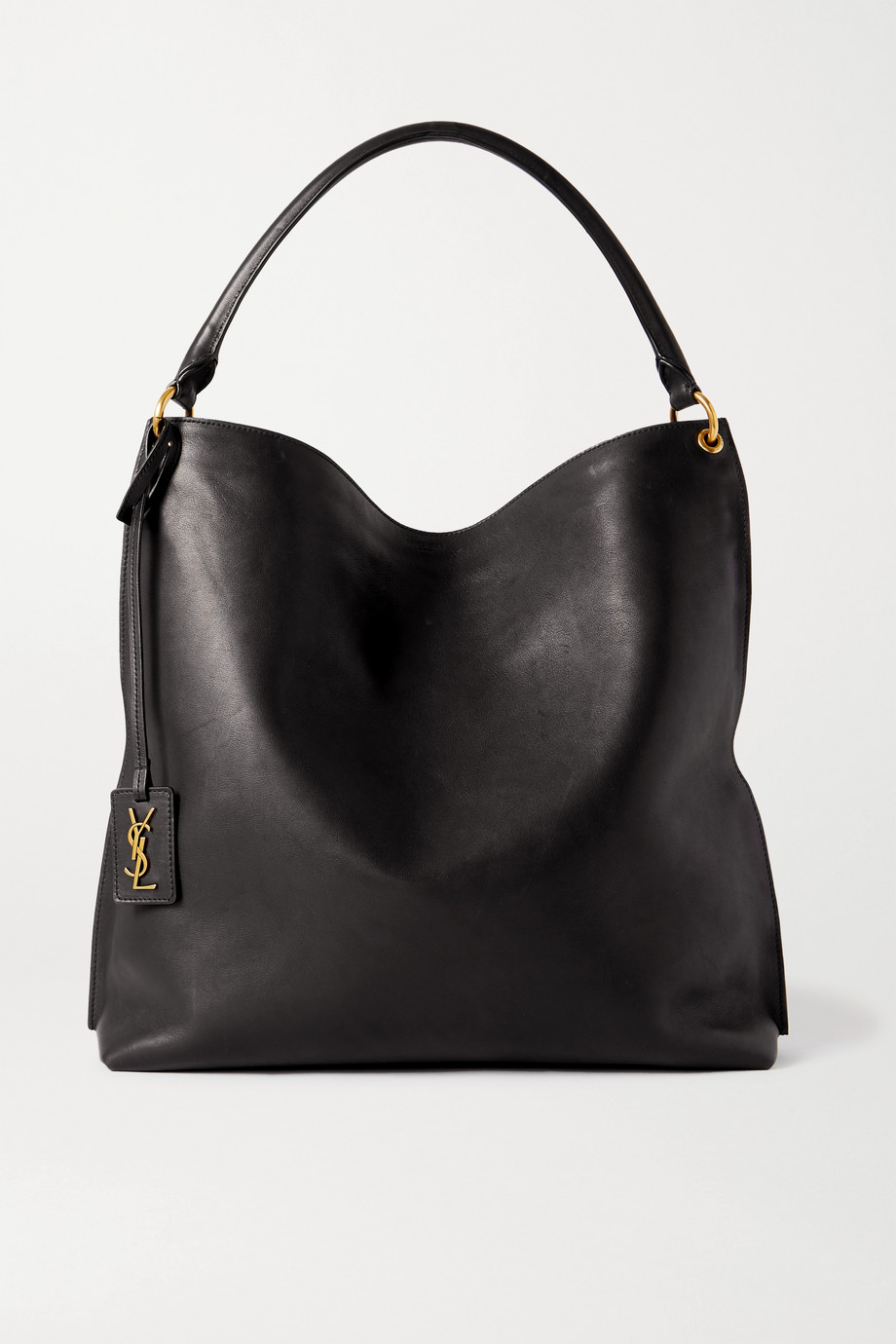 SAINT LAURENT Tag leather tote