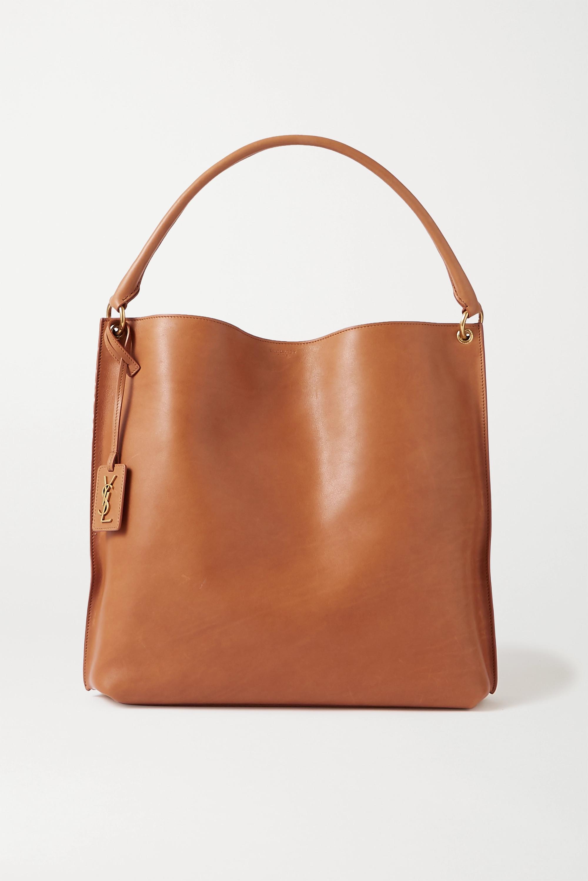 SAINT LAURENT Tag leather tote
