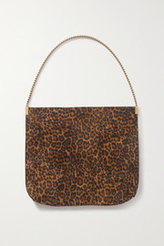 SAINT LAURENT Suzanne medium leopard-print suede shoulder bag