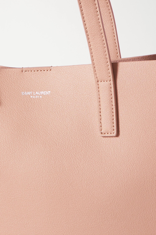 SAINT LAURENT North South mini leather tote