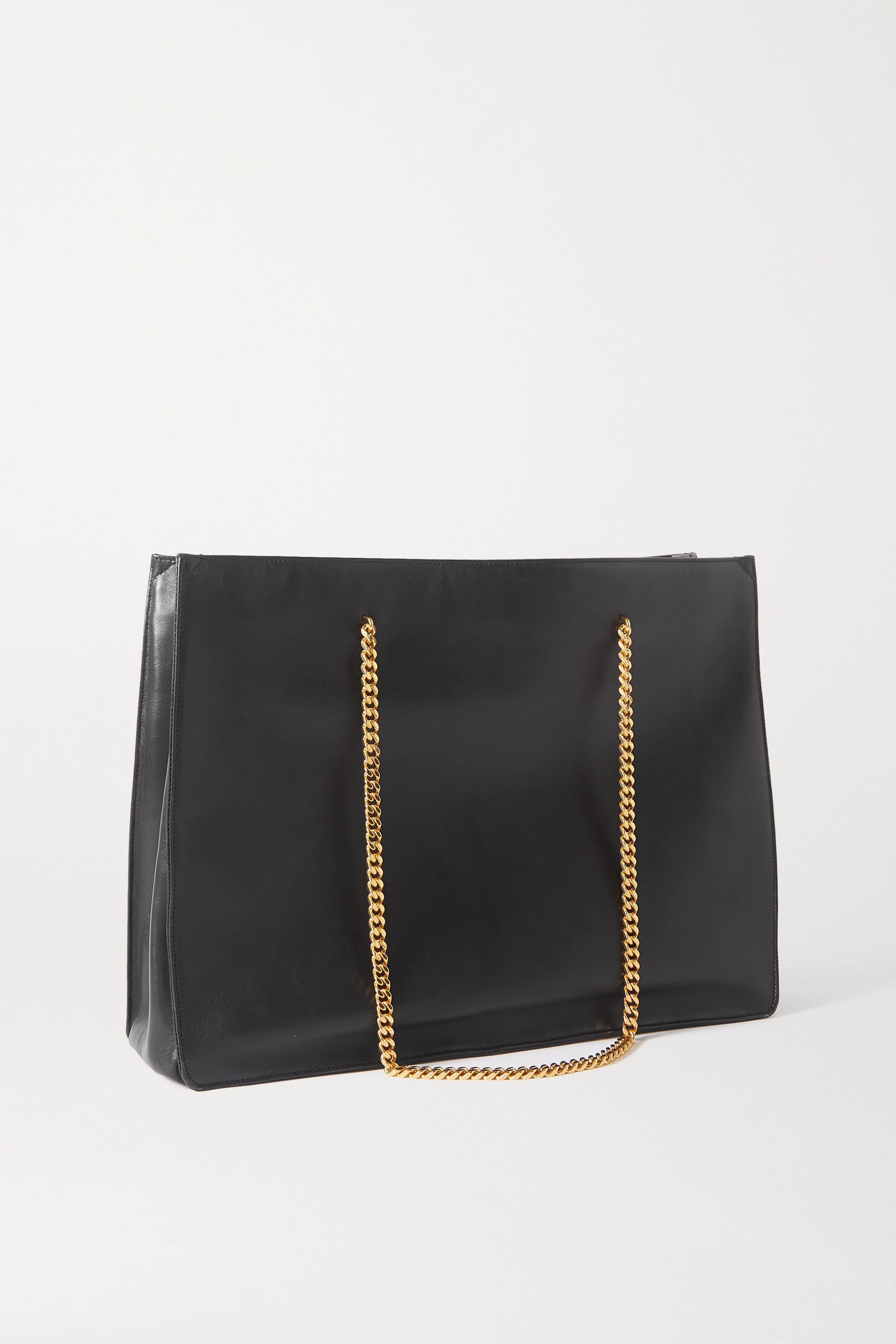 SAINT LAURENT Medium leather tote