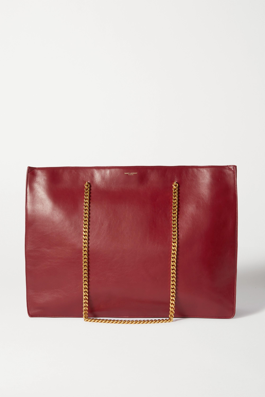 SAINT LAURENT Medium leather tote