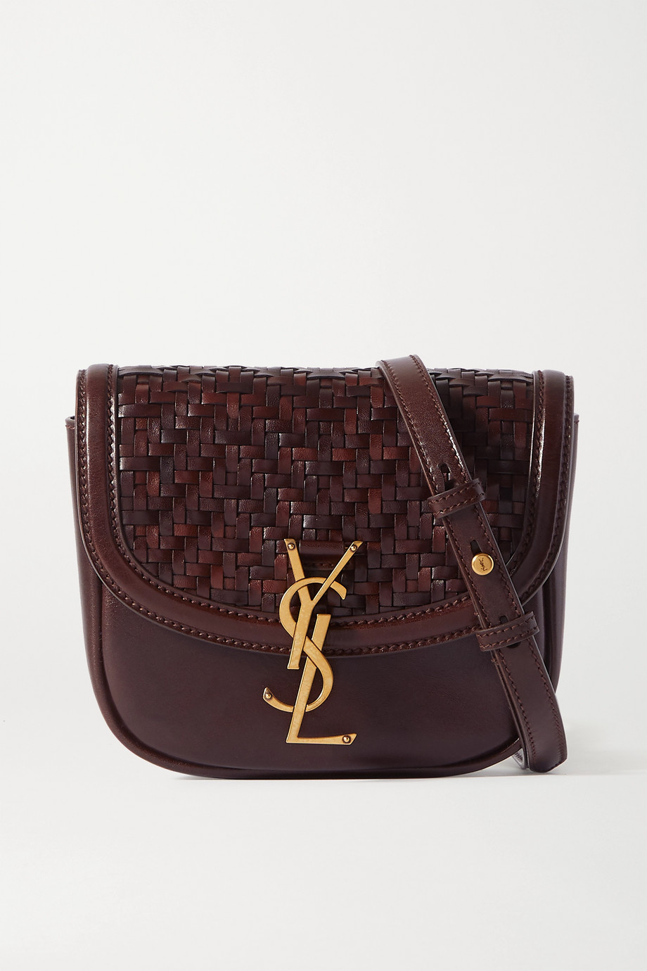 SAINT LAURENT Kaia small woven leather shoulder bag