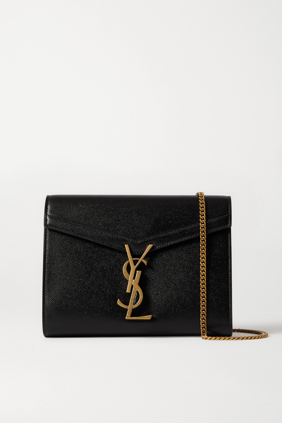 SAINT LAURENT Cassandra textured-leather shoulder bag