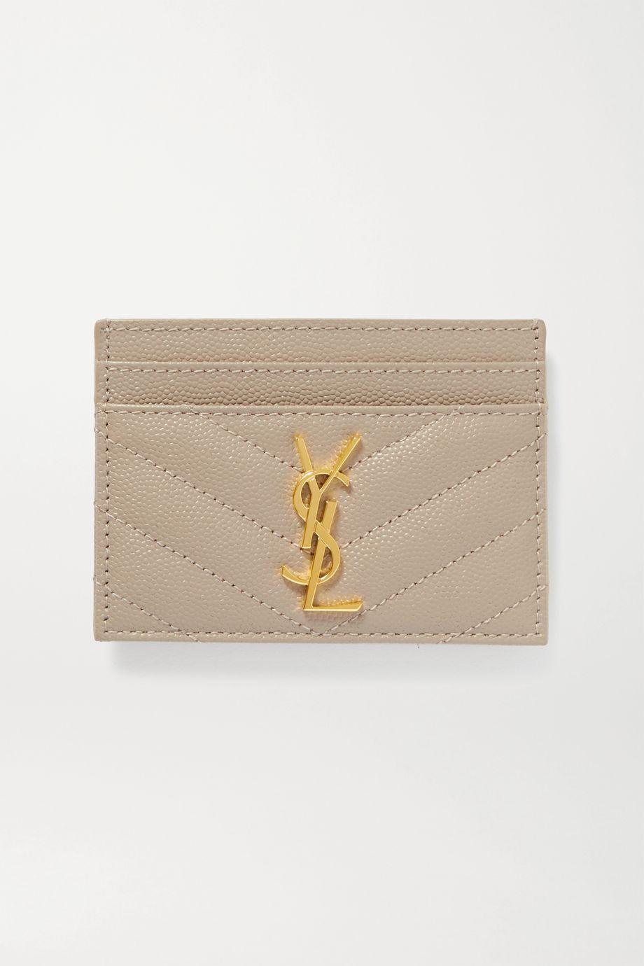 SAINT LAURENT Monogramme 绗缝纹理皮革卡夹