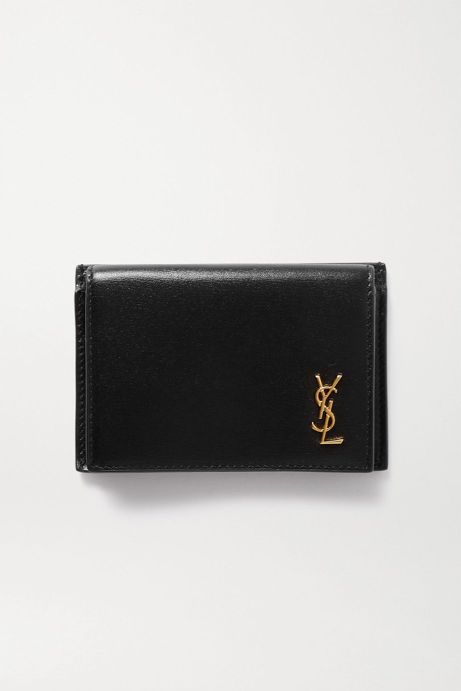 SAINT LAURENT Monogramme 纹理皮革卡夹