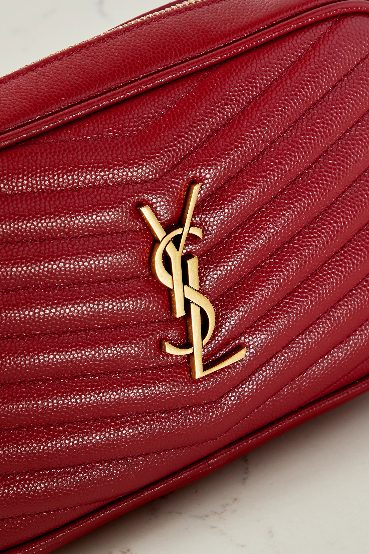 SAINT LAURENT Lou mini textured-leather shoulder bag