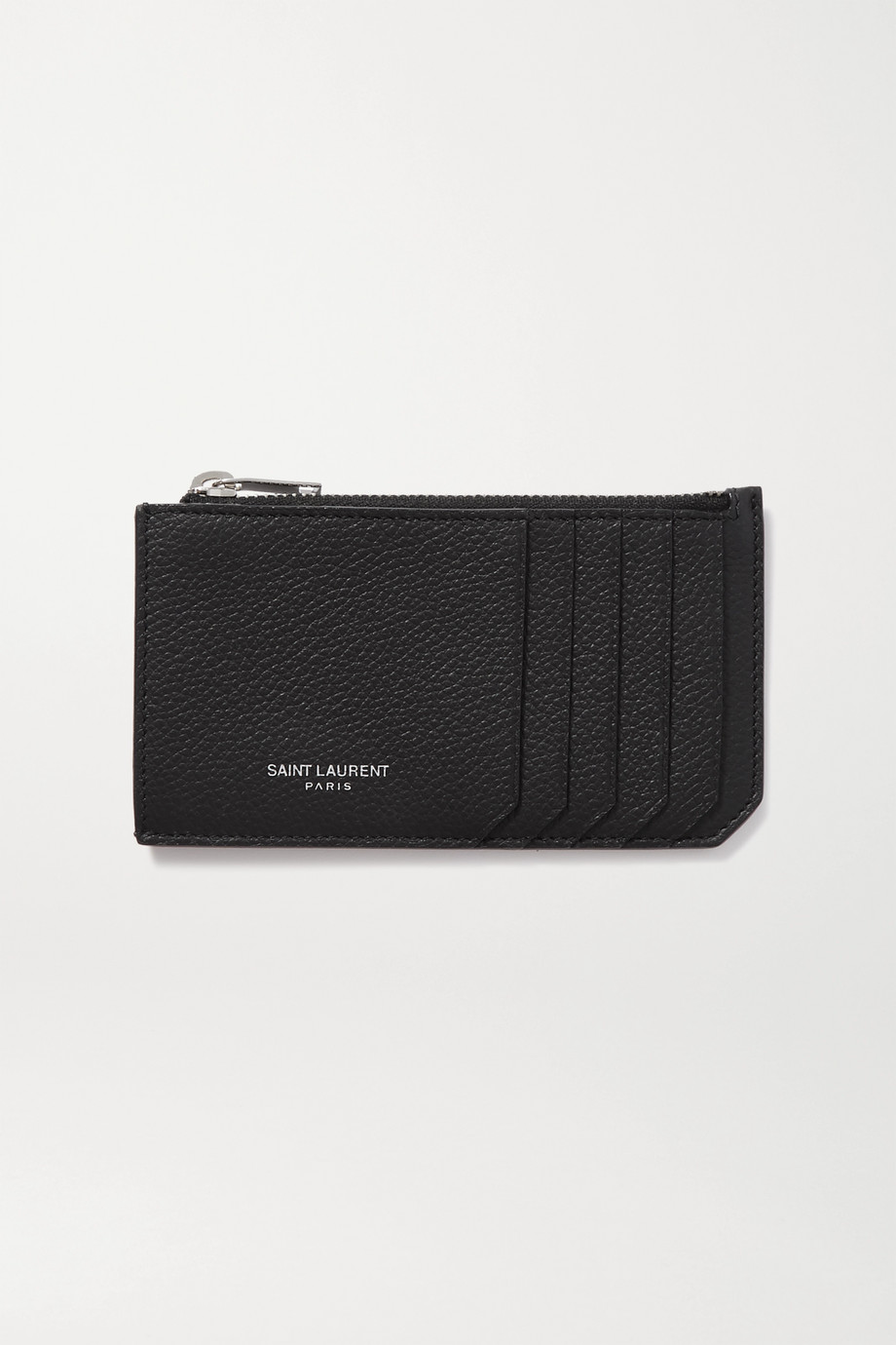 SAINT LAURENT Porte-cartes en cuir texturé