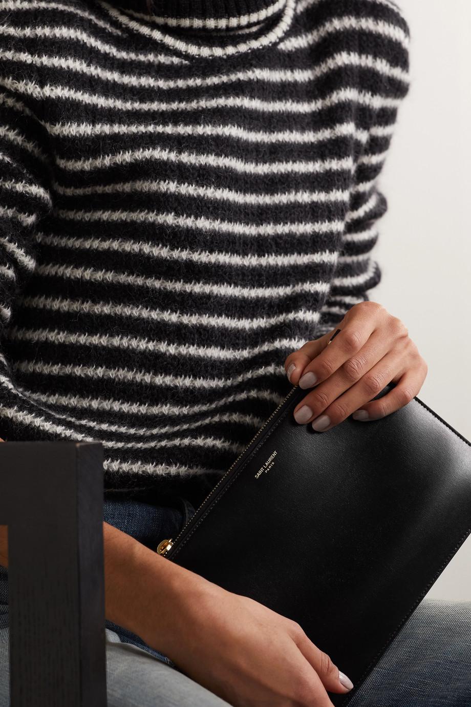SAINT LAURENT Medium leather pouch