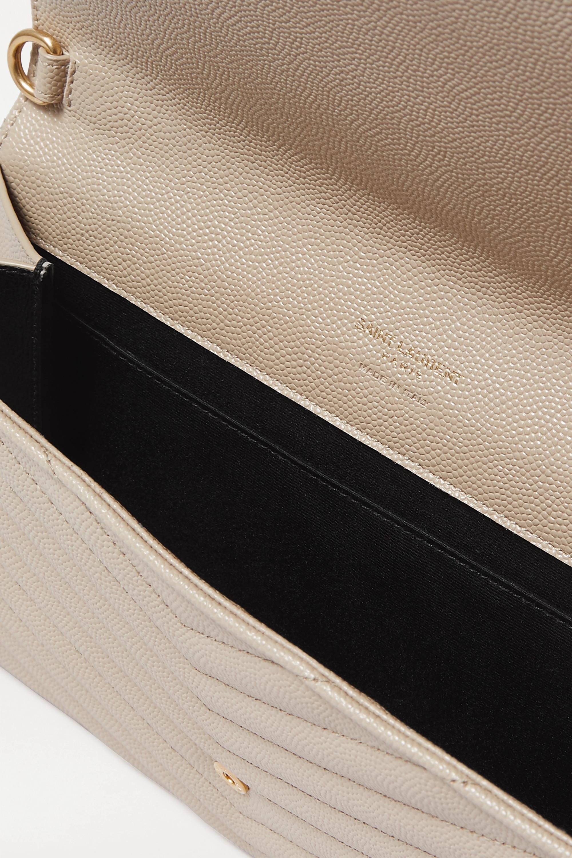 SAINT LAURENT Monogramme gesteppter Beutel aus strukturiertem Leder