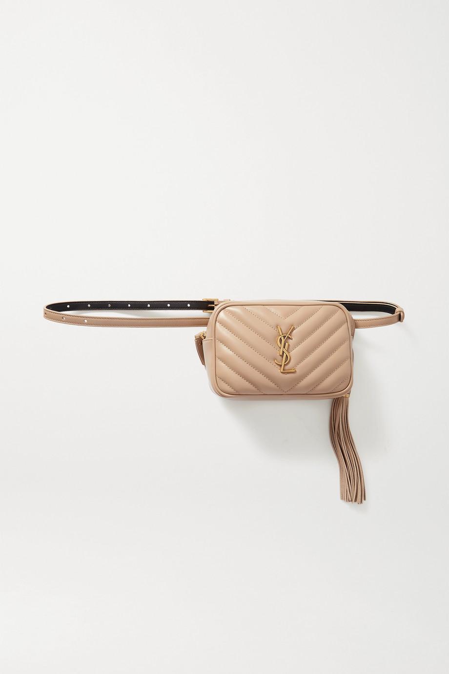 SAINT LAURENT Sac-ceinture en cuir matelassé Lou