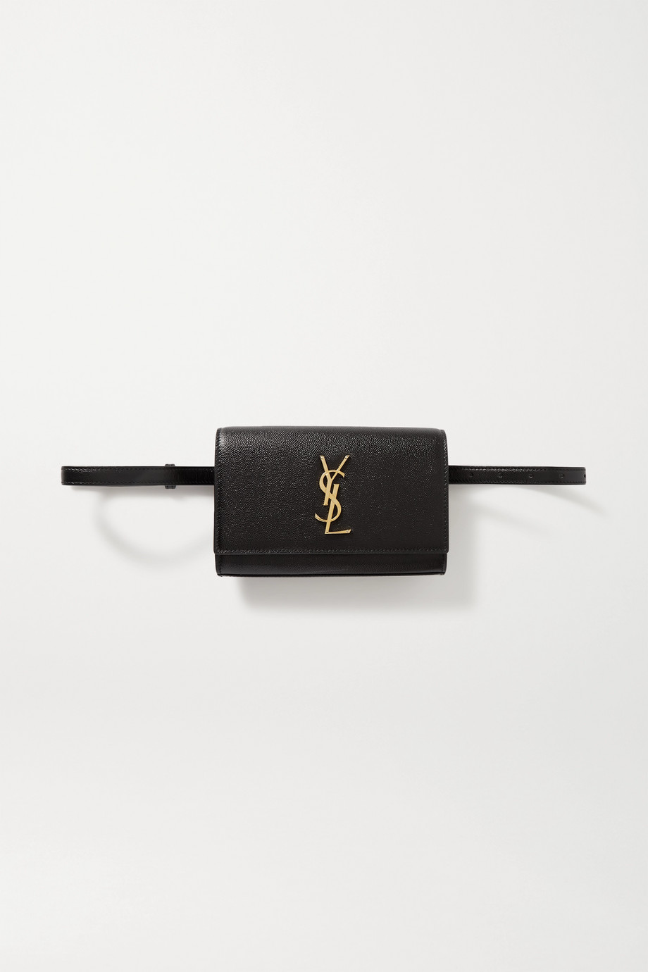 SAINT LAURENT Kate textured-leather belt bag