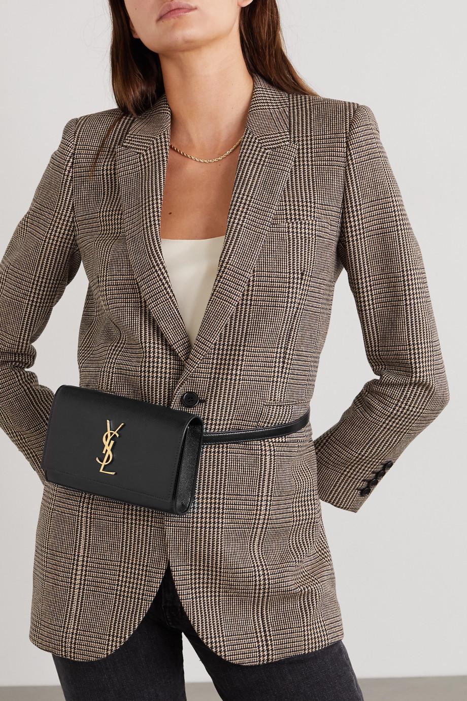 SAINT LAURENT Sac ceinture en cuir texturé Kate