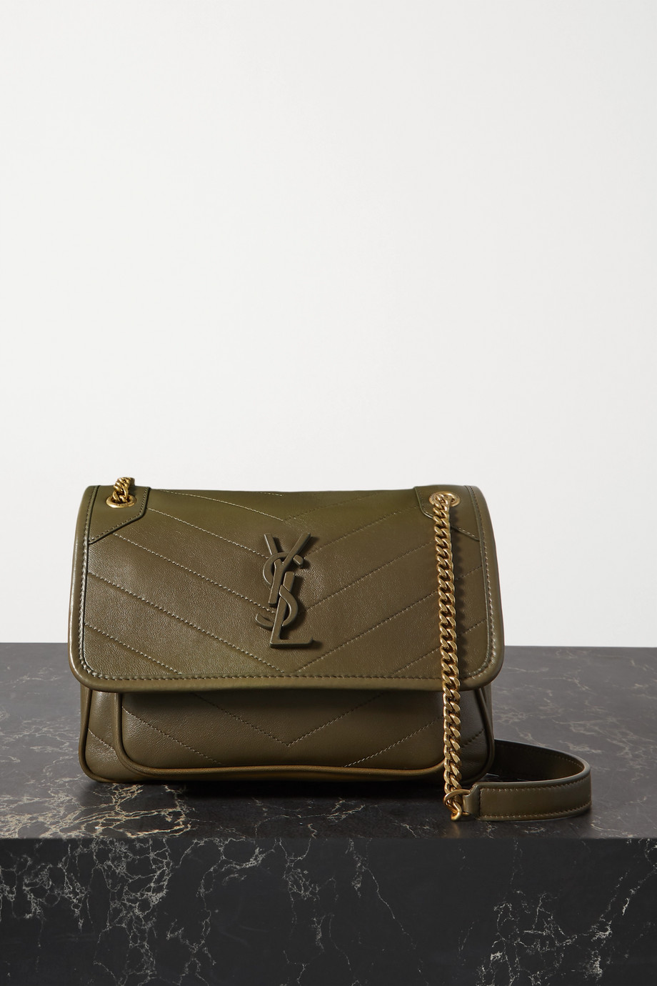SAINT LAURENT Niki Baby mini quilted leather shoulder bag