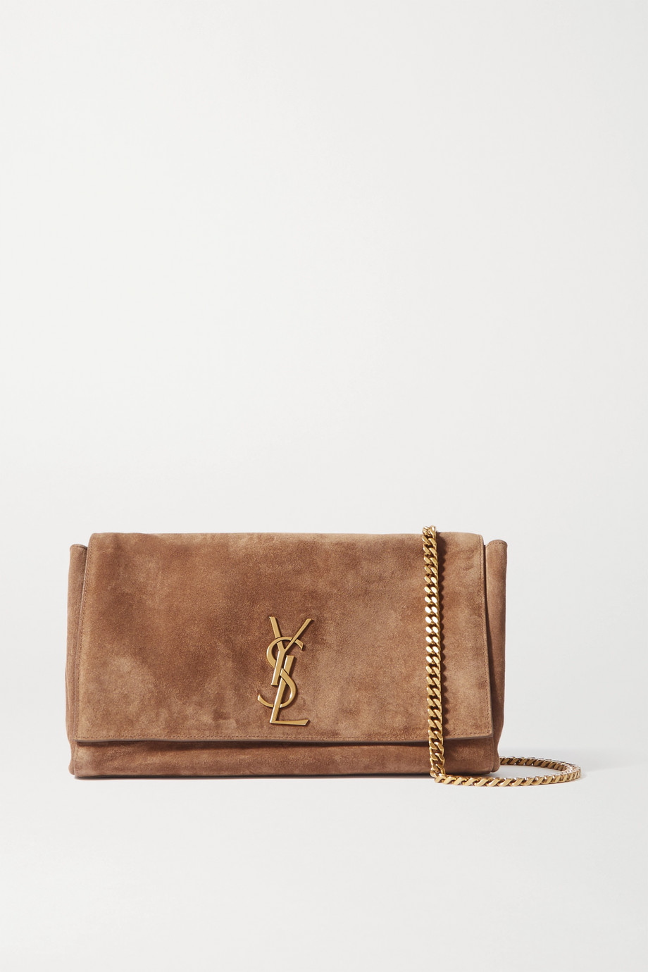 SAINT LAURENT Kate reversible leather and suede shoulder bag