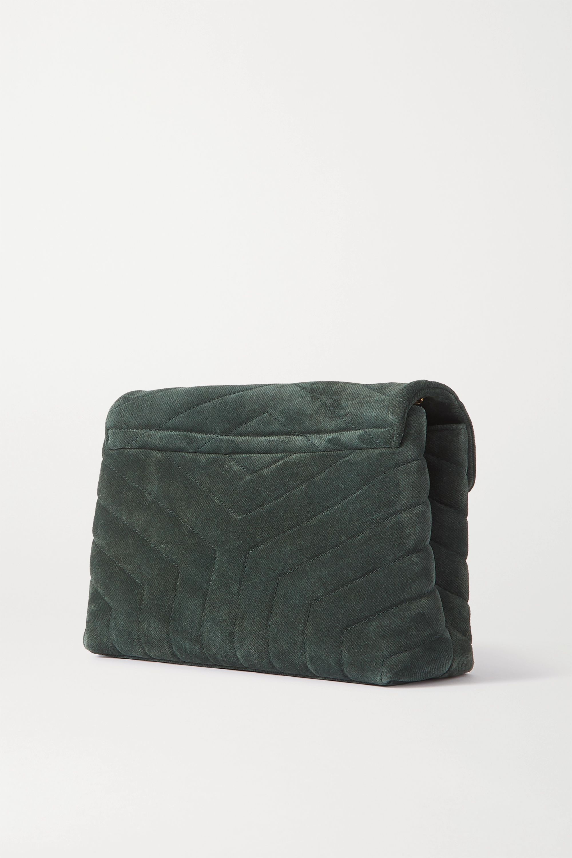 SAINT LAURENT Loulou small quilted suede shoulder bag