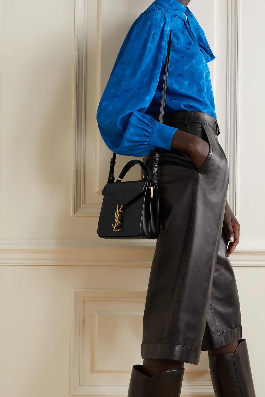 SAINT LAURENT Cassandra mini leather tote