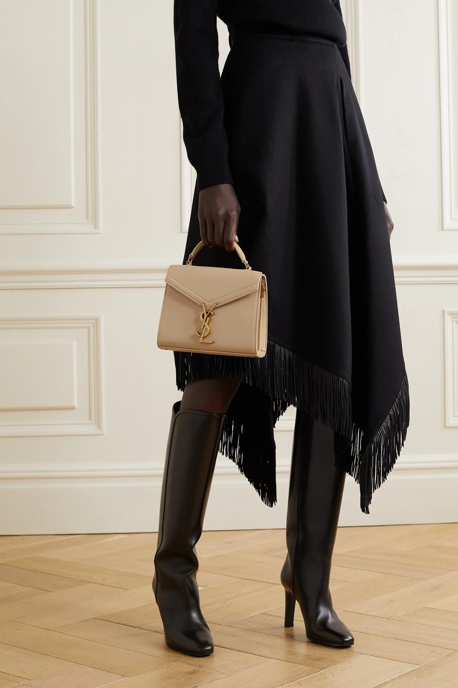 SAINT LAURENT Cassandra mini textured-leather tote