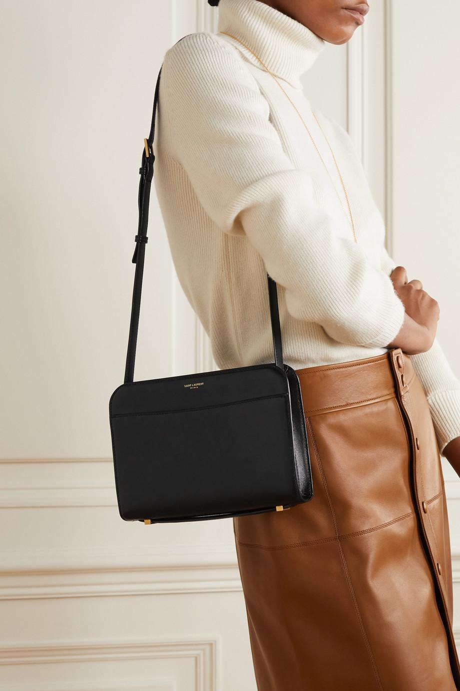 SAINT LAURENT Reversed leather shoulder bag