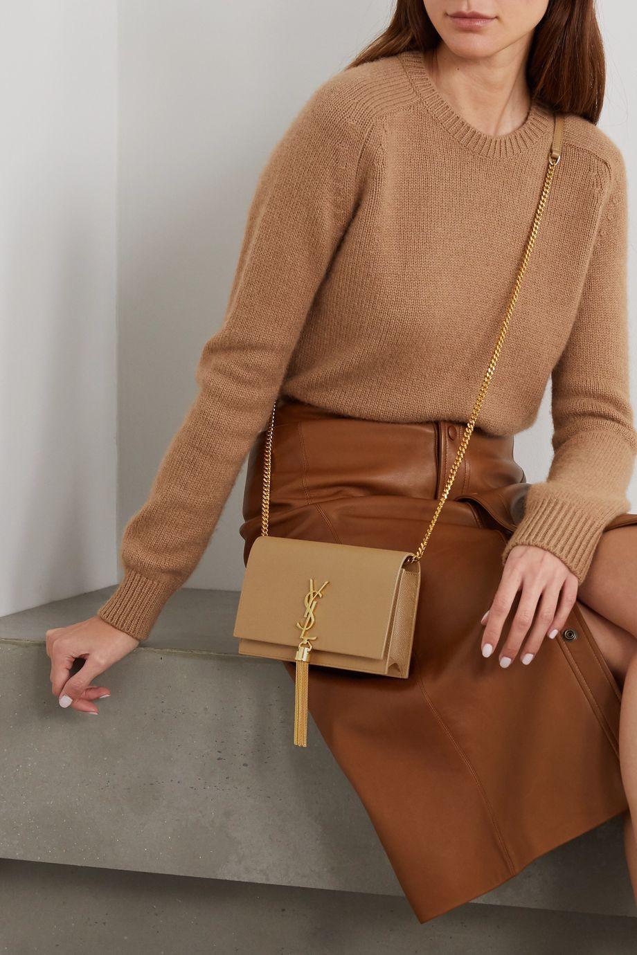 SAINT LAURENT Kate textured-leather shoulder bag