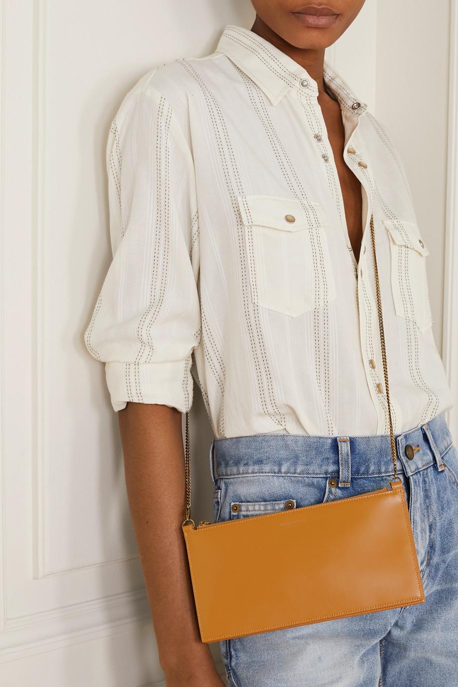 SAINT LAURENT Paris leather shoulder bag