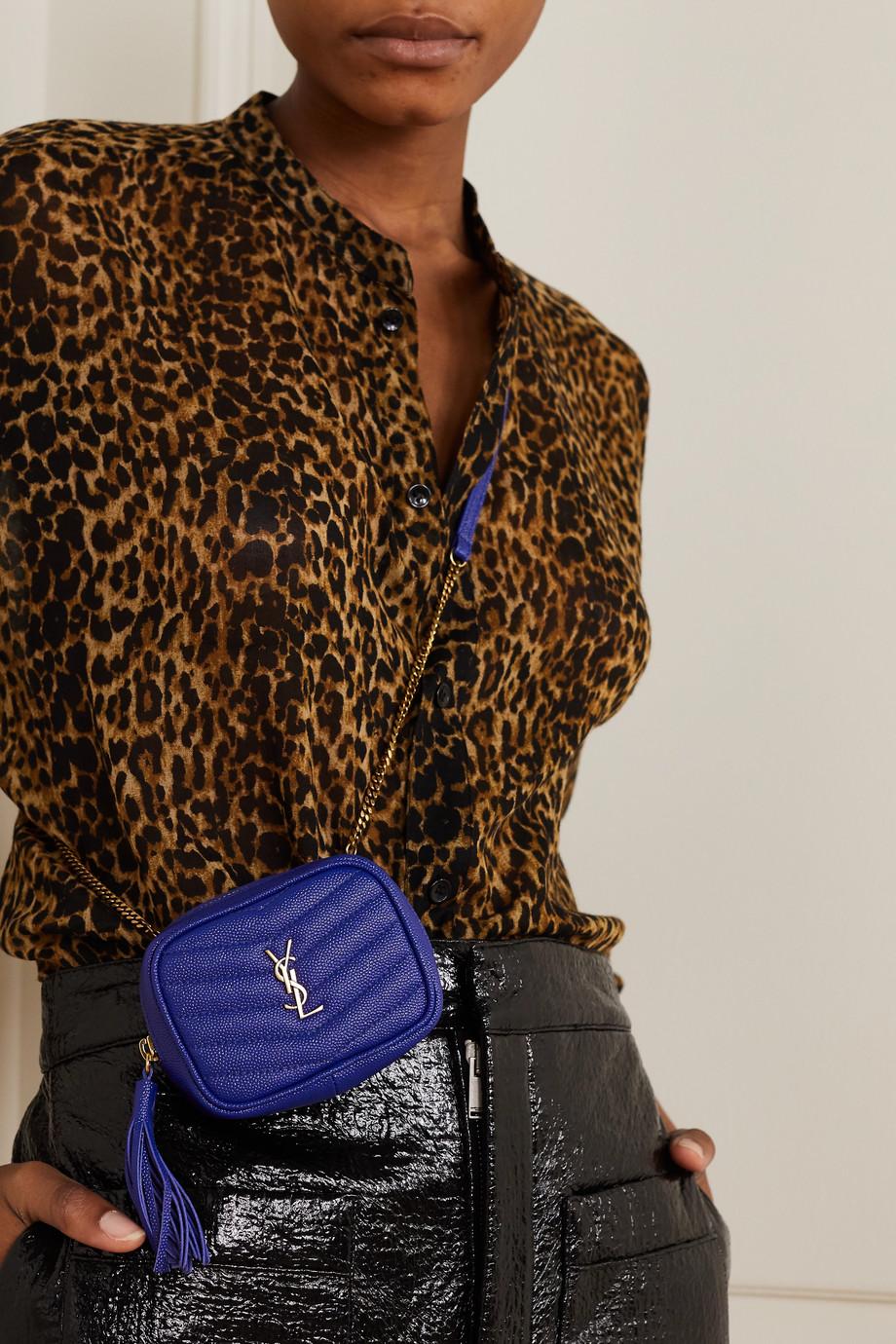 SAINT LAURENT Lou Baby gesteppte Schultertasche aus strukturiertem Leder