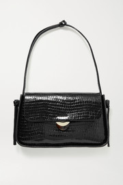 Loeffler Randall Maggie croc-effect patent-leather shoulder bag