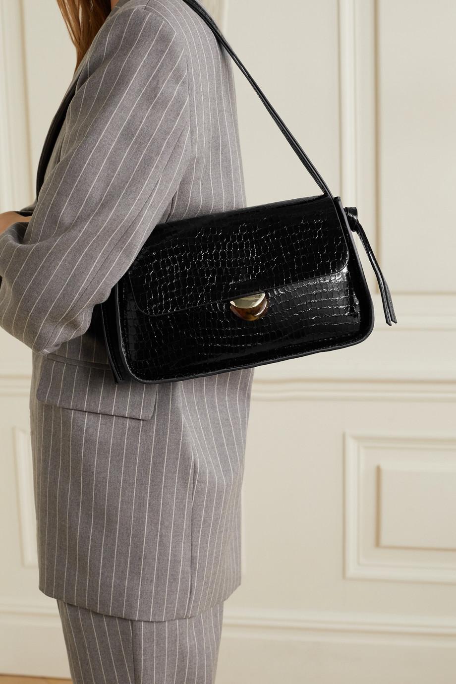 Loeffler Randall Maggie croc-effect patent-leather shoulder bag