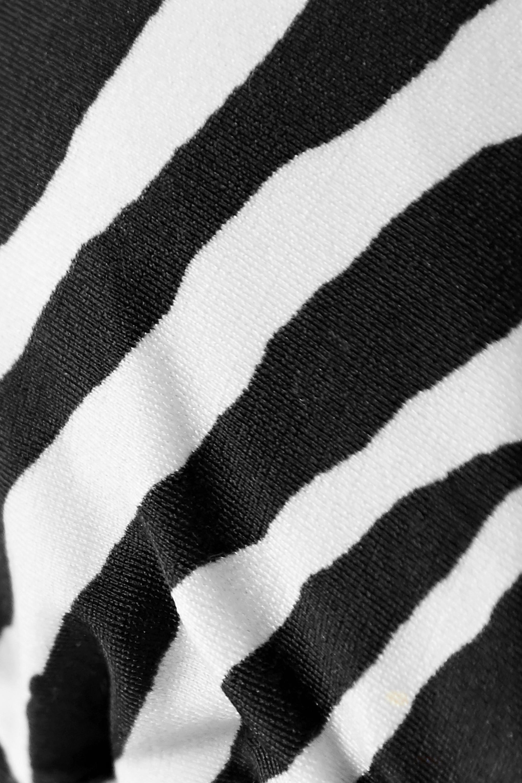 ViX Fiorella embellished zebra-print triangle bikini top