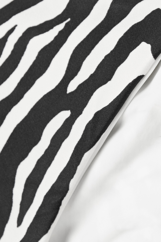 ViX Fiorella embellished zebra-print bikini briefs