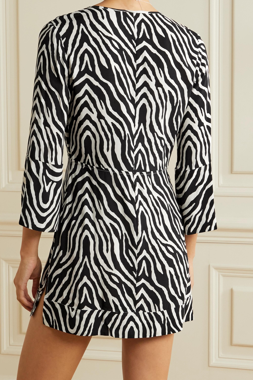 ViX Fiorella cutout zebra-print voile mini dress