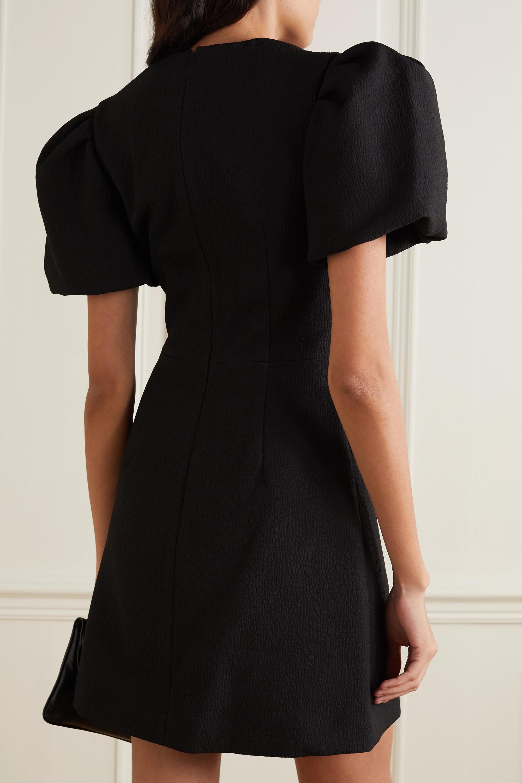 Rebecca Vallance Lavanda bow-detailed cloqué mini dress