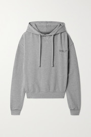 WSLY Embroidered organic cotton-blend jersey hoodie