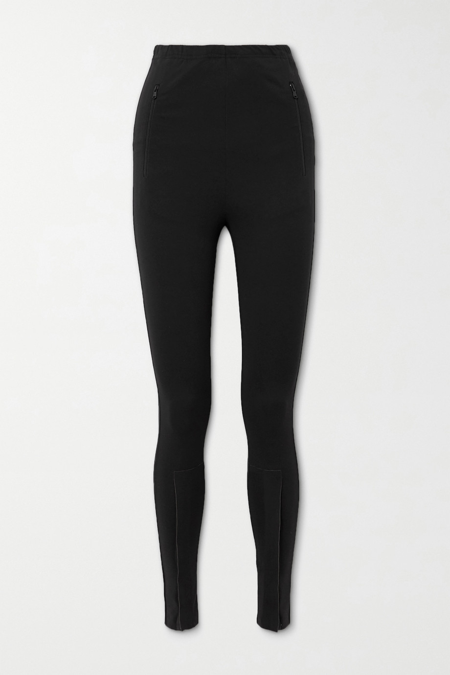 WARDROBE.NYC Zip-detailed stretch-jersey leggings