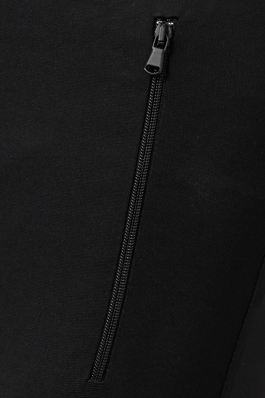 WARDROBE.NYC Zip-detailed stretch-jersey leggings