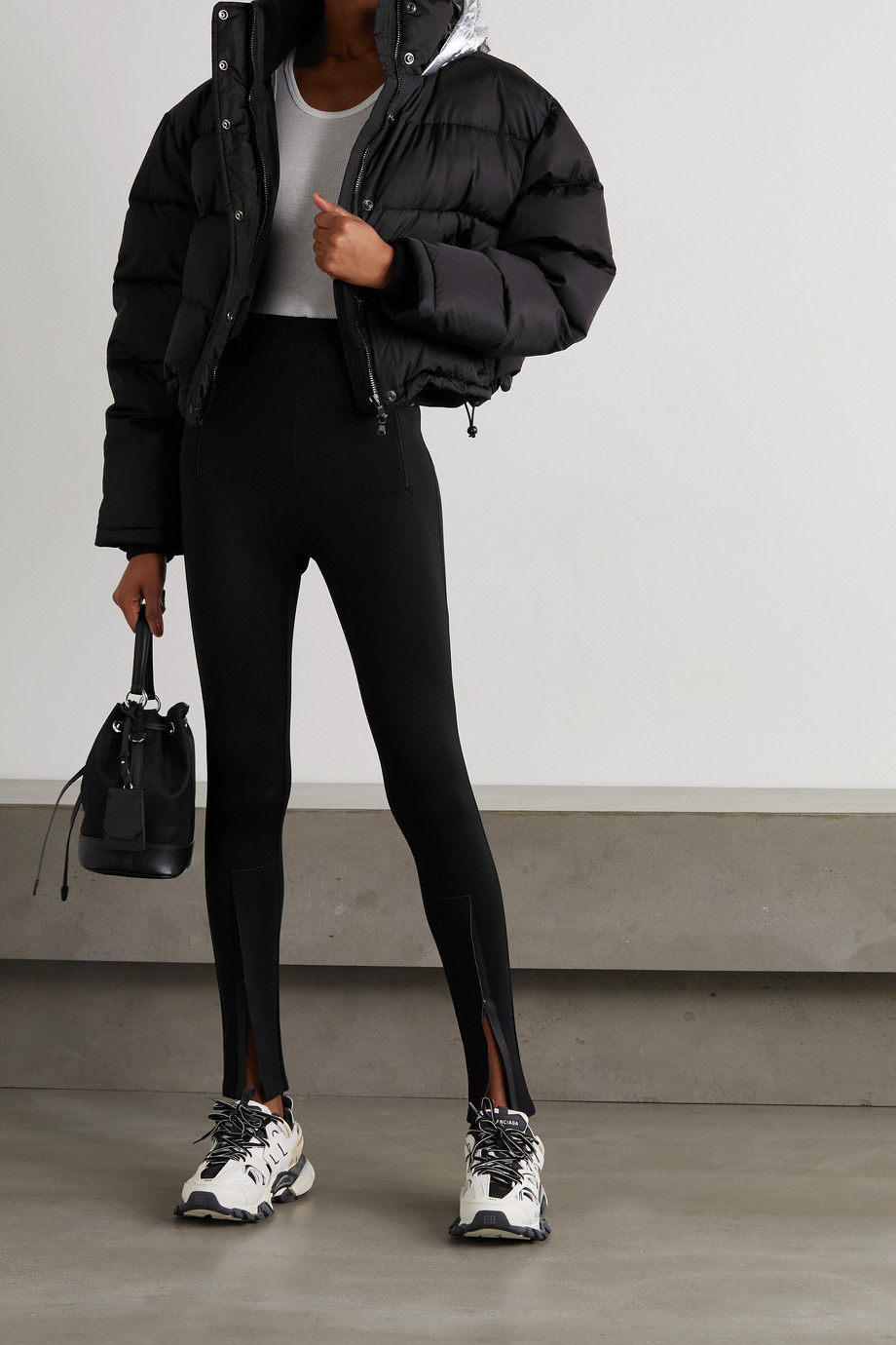 WARDROBE.NYC + NET-A-PORTER hooded quilted padded shell down jacket