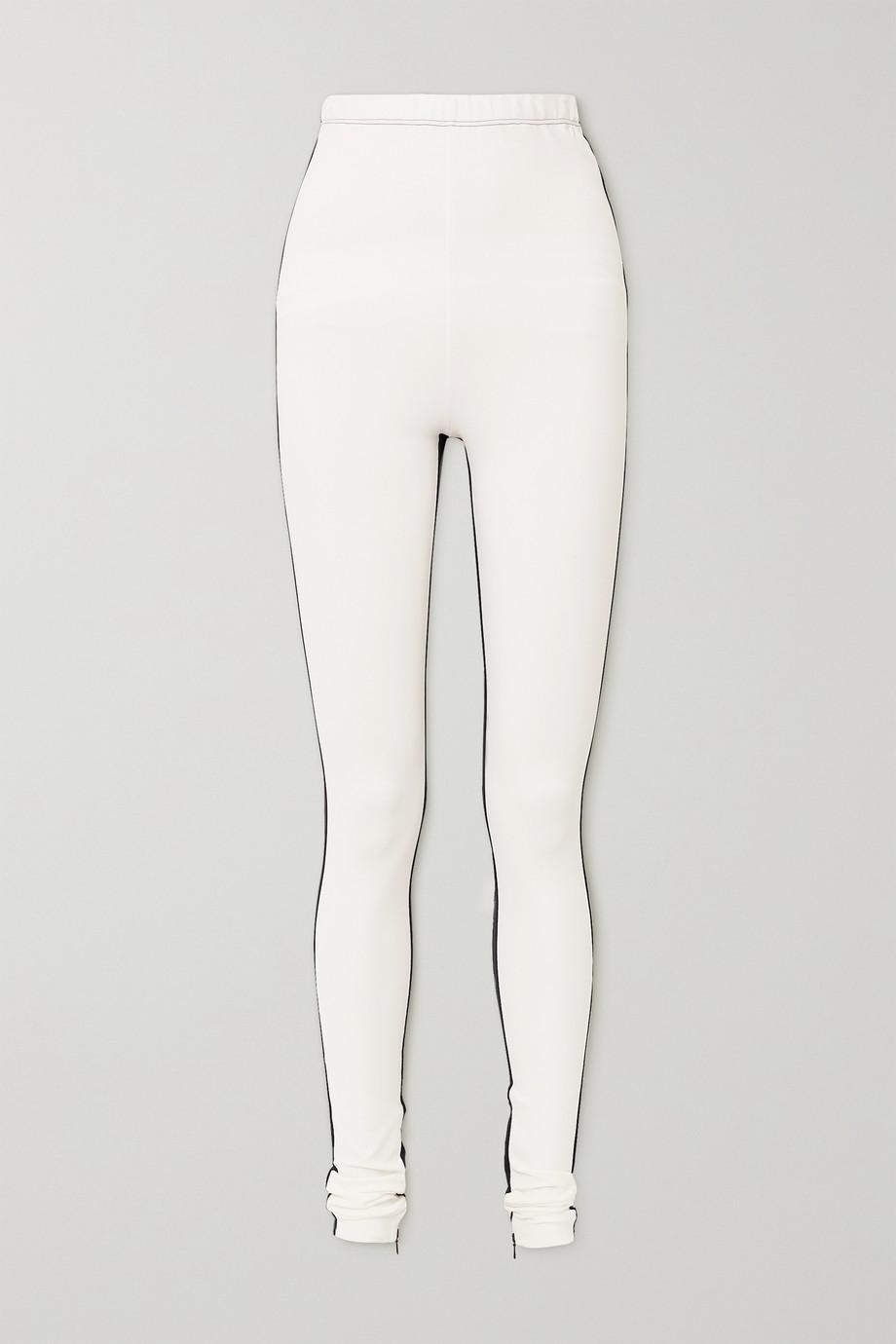 WARDROBE.NYC + NET-A-PORTER Two-tone zip-detailed stretch-jersey leggings