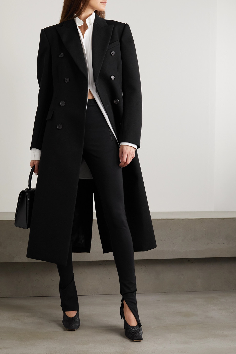 WARDROBE.NYC Double-breasted wool-twill coat
