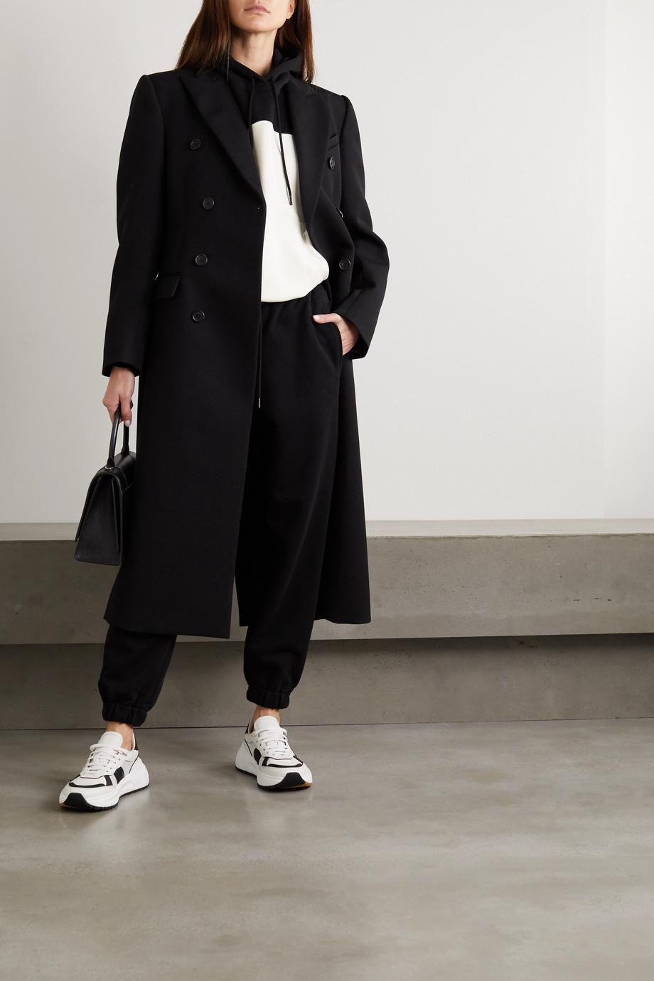 WARDROBE.NYC Sweat à capuche en jersey de coton bicolore x NET-A-PORTER