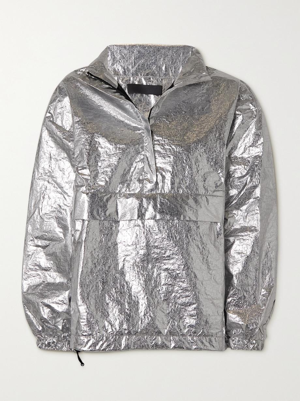 WARDROBE.NYC + NET-A-PORTER New Anorak Jacke aus Shell in Metallic-Optik