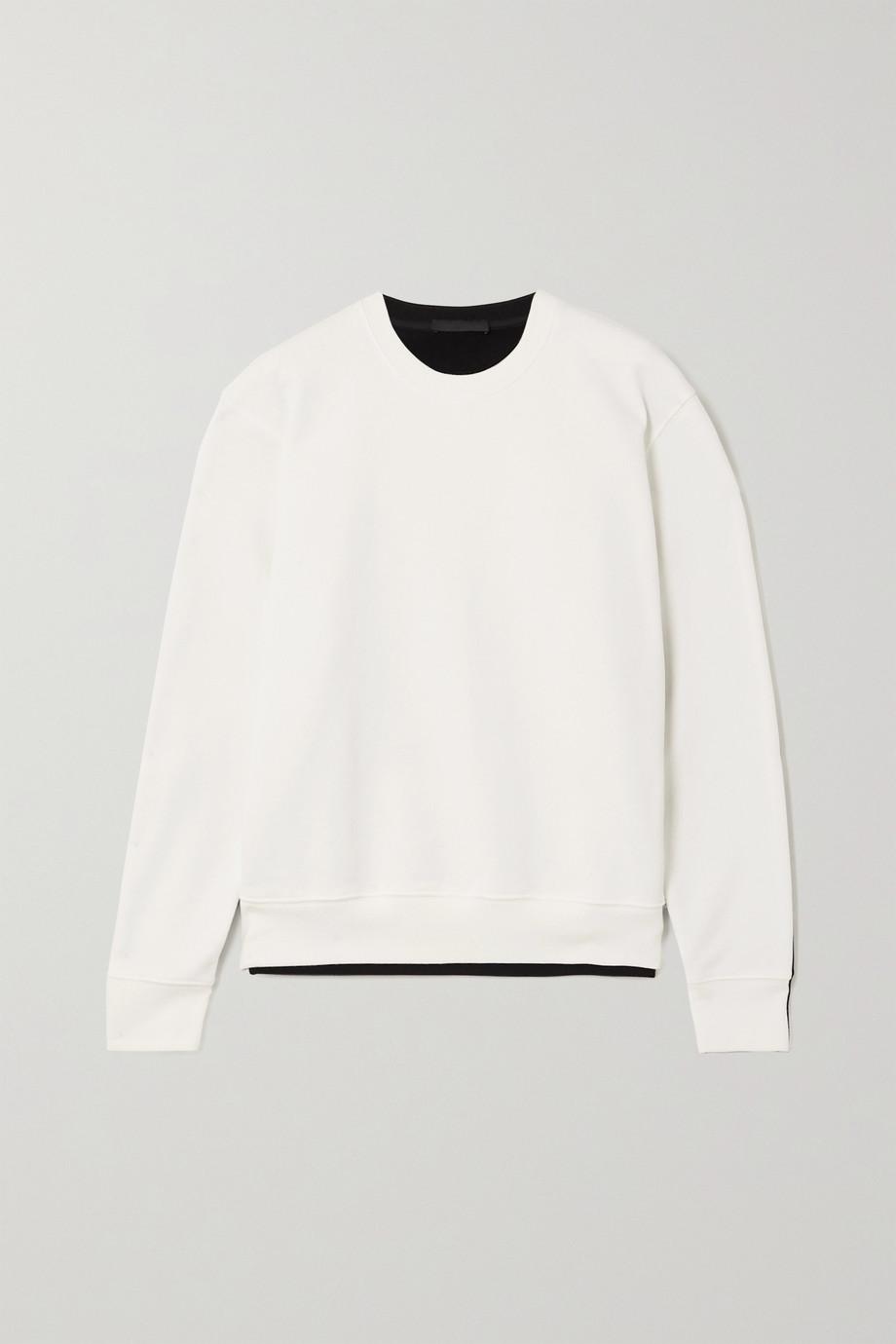 WARDROBE.NYC Sweat en jersey de coton bicolore - NET A PORTER