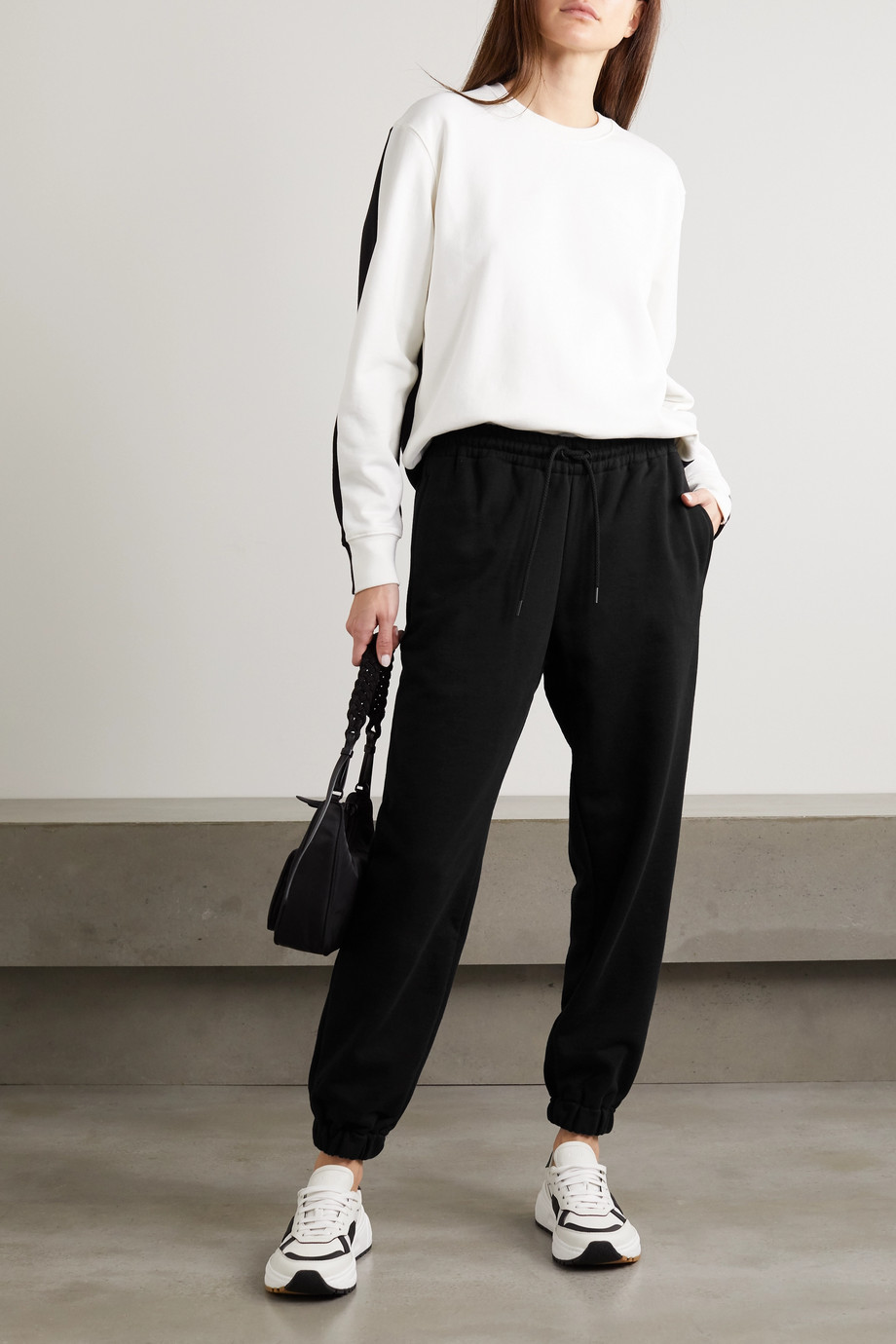 WARDROBE.NYC Cotton-jersey track pants