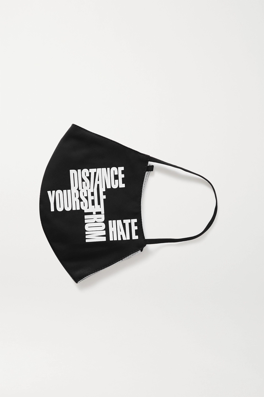 Noir Masque En Serge De Coton Imprimée X Gmhc Collectiveshift | Jason Wu Collection