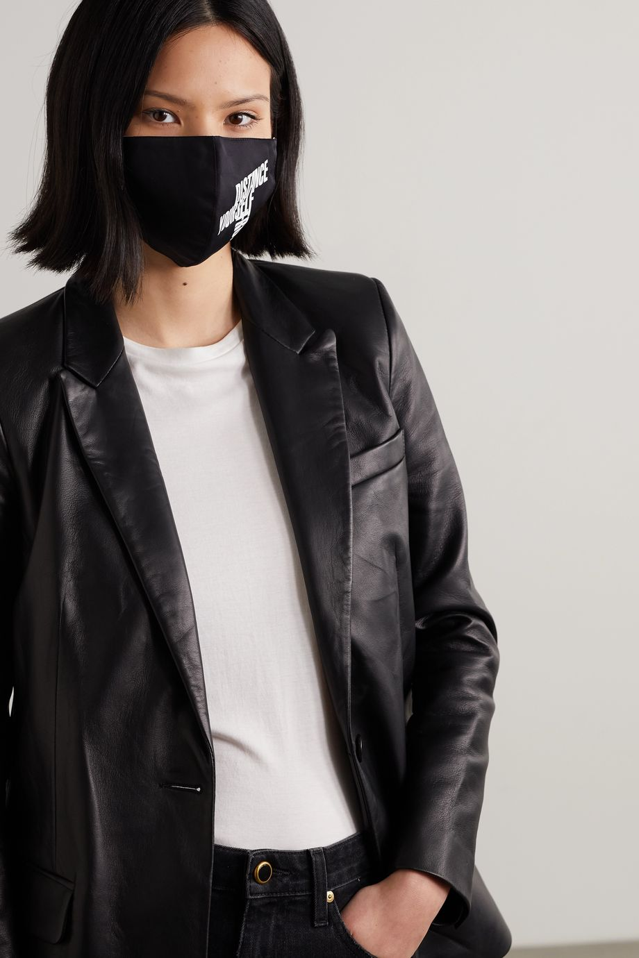 Jason Wu Collection + GMHC + CollectiveShift printed cotton-twill face mask