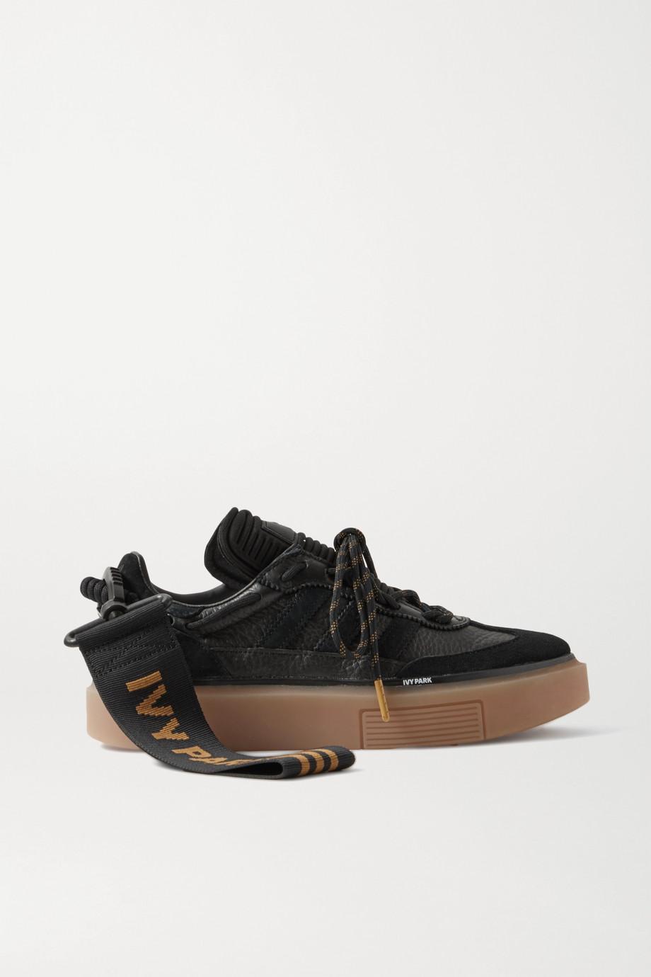 adidas Originals + Ivy Park Supersleek textured-leather, neoprene and suede sneakers