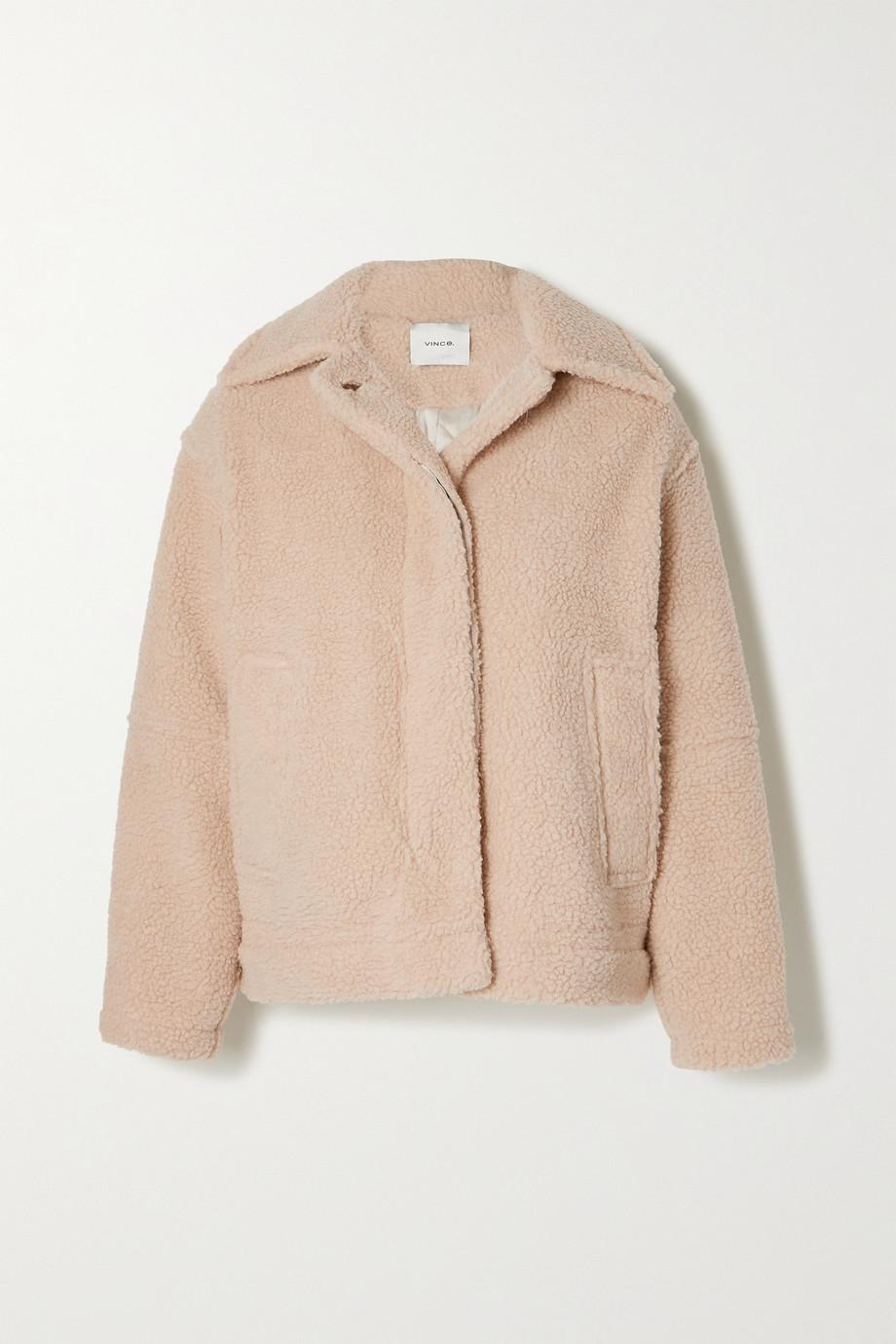Vince Paneled faux shearling jacket