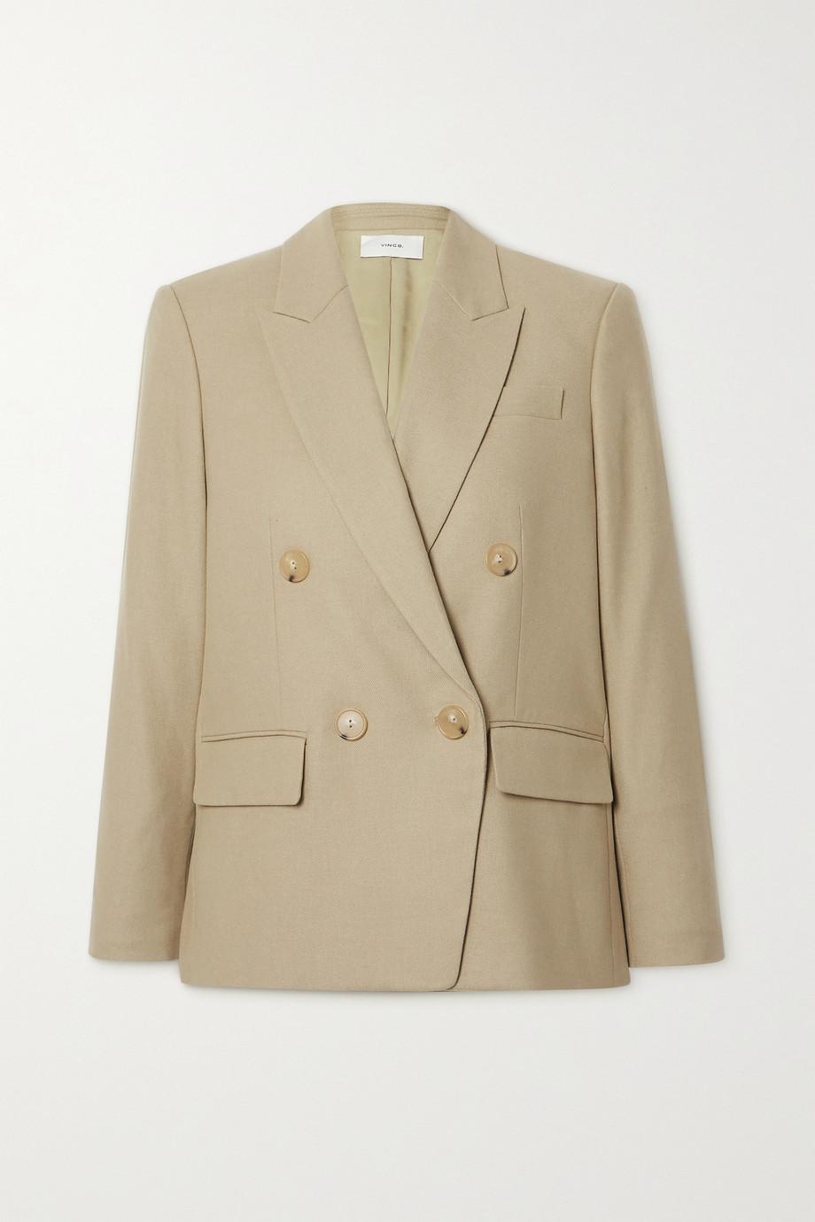Vince 双排扣法兰绒西装外套