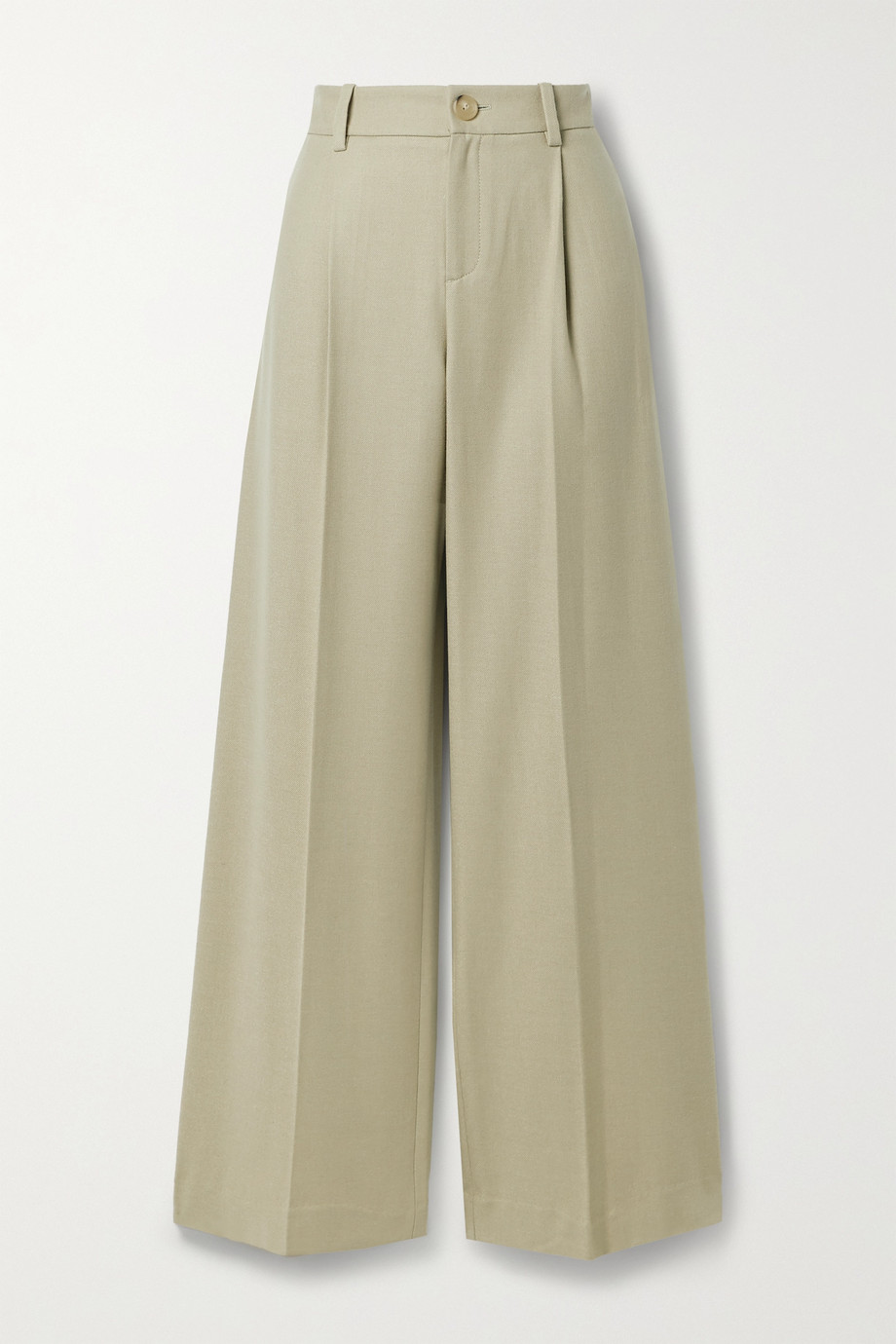 Vince Pleated flannel wide-leg pants